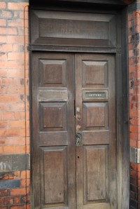 Coffin Works door