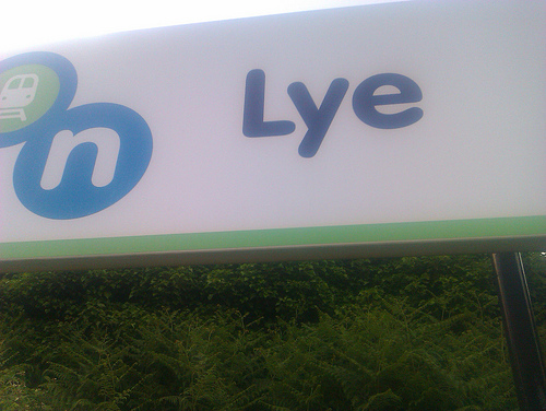Lye, joint shortest station name in the UK and keen readers
