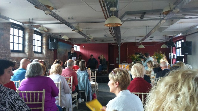 Discussing crime fiction at the Stoke Literary Festival