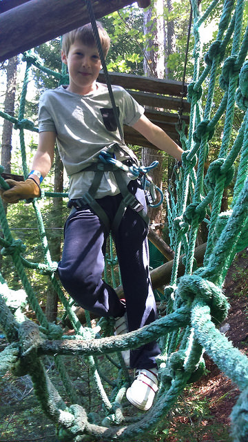Joe taking to the high ropes with ease