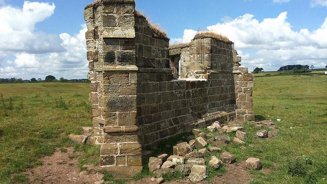 East wall of Creswell chapel