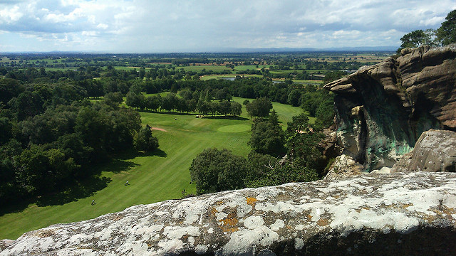 View of Shropshire countryside from Hawkstone Park